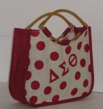 A Polka Dot Jute Bag